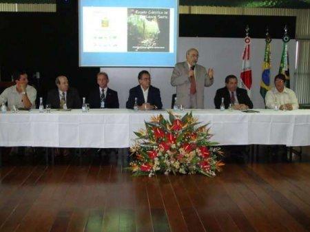 O Secretário de Meio Ambiente do Governo de Minas abriu a solenidade de inauguração do projeto de educação ambiental. Foto: Acervo Manuelzão