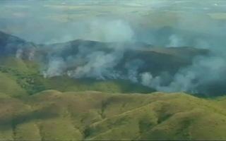 Foram destruídos 36 hectares do Parque (Foto: retirada do portal G1 - globo.com)